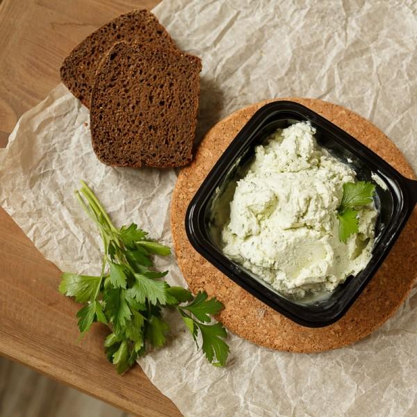Творожный сыр с зеленью и чесноком~350г